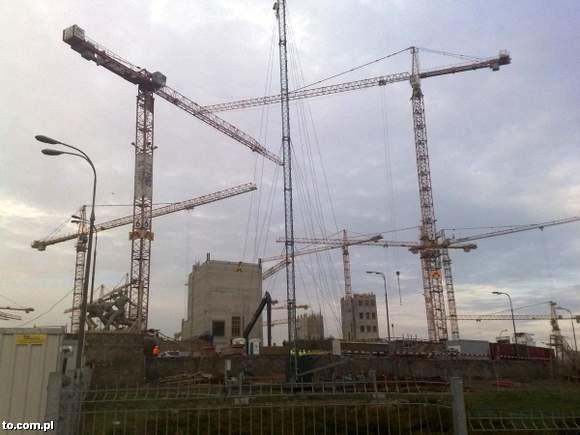 Budowa Stadionu Narodowego.
