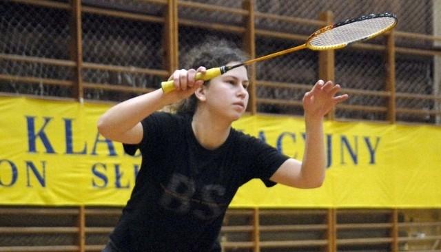 Badmintoniści grać będą w hali ZSO nr 3. Na zdjęciu Karolina Sieradzka.