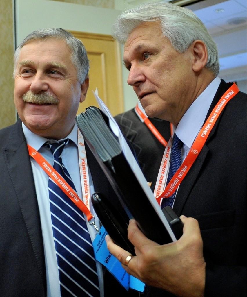 Trenerzy Jerzy Engel  i Henryk Kasperczak