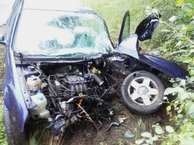 Wypadek na drodze między Chrośnicą a Zbąszyniem