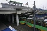 Mężczyzna porażony prądem na trasie PST. Został wstrzymany ruch tramwajowy w obu kierunkach