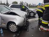 Wypadek na DK 94 w Olkuszu. Dwie osoby w szpitalu