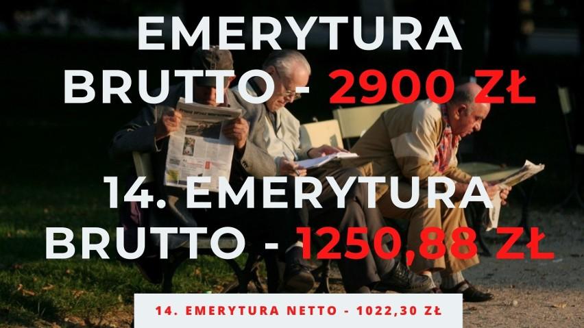 Takie będą stawki czternastej emerytury 2021. Zobacz wyliczenia brutto i netto