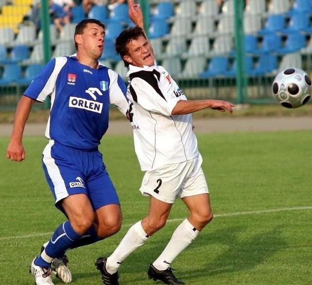 Piłkarze Stali Stalowa Wola (z prawej Jurij Michalczuk) szykują się na dzisiejszy, zaległy mecz z Wisłą Płock.