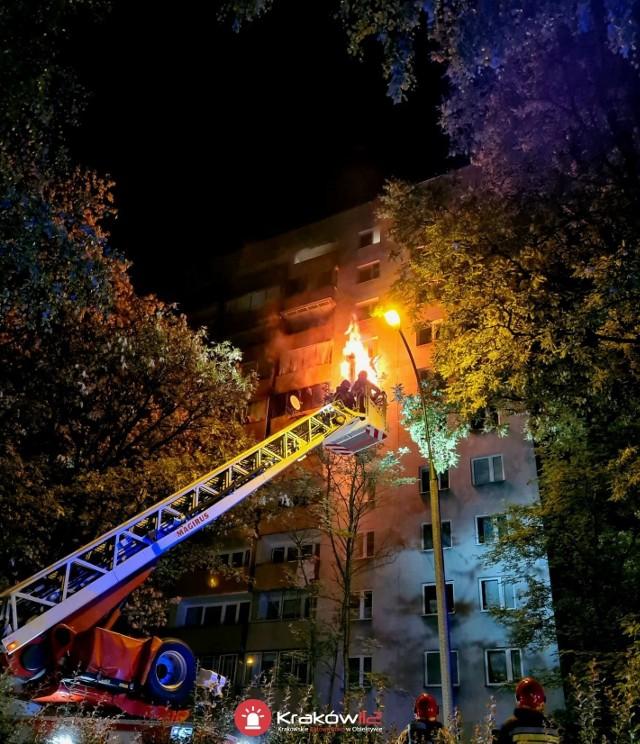 Pożar mieszkania w Krakowie