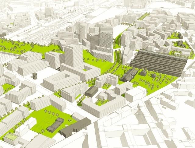 Koncepcja planu miejscowego dzielnicy Wolne Tory