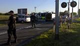 Śmierć na przejeździe kolejowym w Kołobrzegu (zdjęcia internauty)