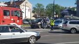 Zderzenie trzech samochodów na rondzie Jagiellonów w Bydgoszczy [zdjęcia]
