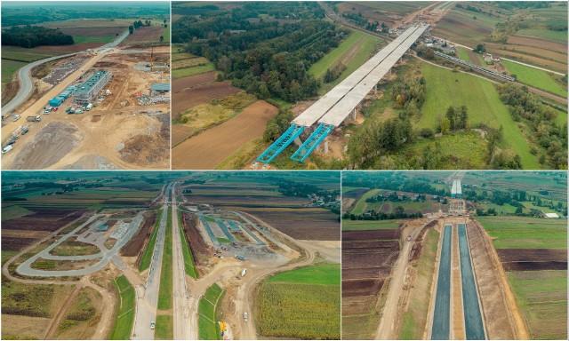 Budowa S7 pomiędzy Szczepanowicami i Widomą szybko postępuje. Kierowcy pojadą nią już w przyszłym roku.