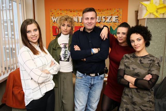 Koordynatorzy Lauru Wolontariatu z Regionalnego Centrum Wolontariatu, Diecezjalnego Centrum Wolontariatu oraz wolontariatu działającego przy Miejskim Ośrodku Pomocy Rodzinie w Kielcach.