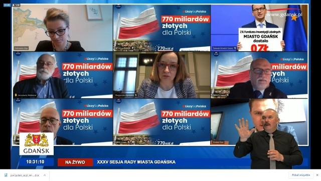 Zdalna sesja Rady Miasta Gdańska