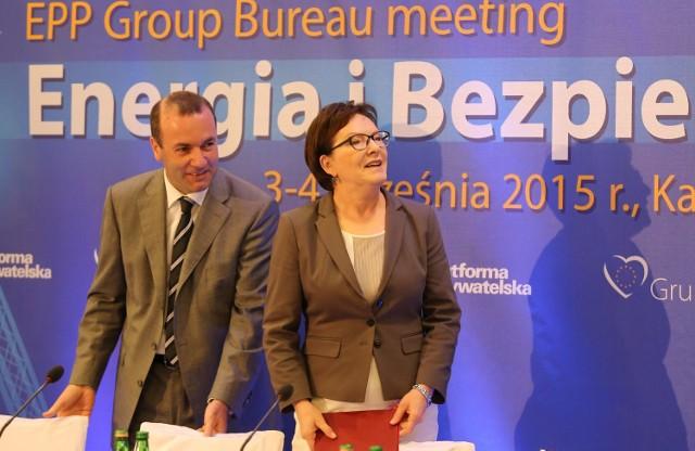 Premier Ewa Kopacz była gościem posiedzenia biura Grupy Europejskiej Partii Ludowej w Parlamencie Europejskim.