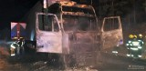 Bugzy-Święchy. Pożar samochodu ciężarowego na drodze powiatowej Chorzele - Stara Wieś, 20.01.2019