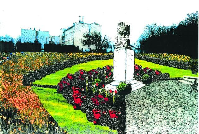 Monument to replika obelisku, który stoi na Cmentarzu Żołnierza Polskiego na Monte Cassino. Ma mieć ponad trzy metry. Dookoła pomnika ma być zasadzony trawnik i klomby z  kwiatami