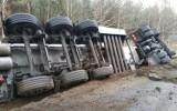 Wypadek cysterny z paliwem pomiędzy Wieleniem a Drawskim Młynem - droga wojewódzka nr 181 została zablokowana