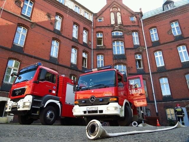 Pożar wybuchł w szpitalu przy ulicy Grabiszyńskiej