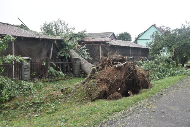 W Nowej Jastrząbce nawałnica wyrządziła ogromne szkody. Trwa wielkie sprzątanie i naprawa zniszczeń