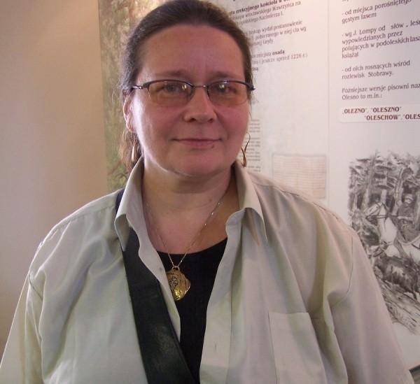 Ewa Cichoń, nowa szefowa muzeum w Oleśnie.