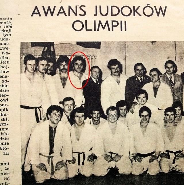 1978 rok - Roman K. w artykule na temat krajowego awansu ligowego sekcji judo GKS Olimpia Poznań