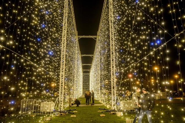 Tunel świetlny przeniesiony z Parku Oliwskiego do Parku Reagana