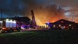 Ogromny pożar byłego tartaku w Niedoradzu koło Nowej Soli. Przyczyną było podpalenie?