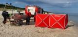 Ciało kobiety znaleziono na plaży w Łebie we wtorek 18.08.2020 r.! Na miejscu prokurator i policjanci