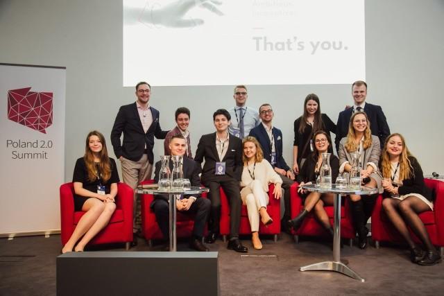 Zespół organizujący Poland 2.0 Summit podczas ubiegłorocznej konferencji w Londynie.