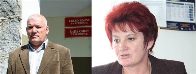 Wójt Henryk Kozłowski i kierownik GOPS Teresa Rogalska