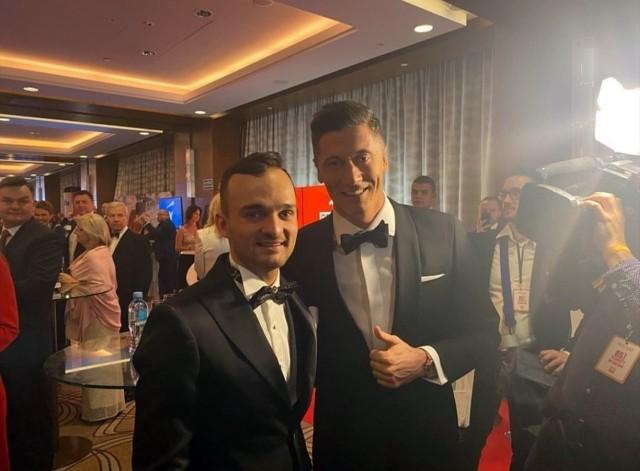 Bartosz Zmarzlik i Robert Lewandowski