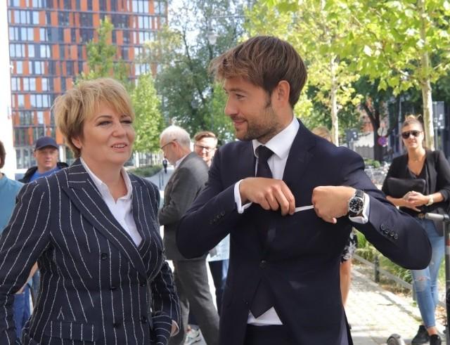 Hanna Zdanowska, prezydent Łodzi z wiceprezydentem Adamem Pustelnikiem.