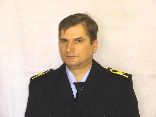 Leszek Kukla pracuje w PSP w Tucholi