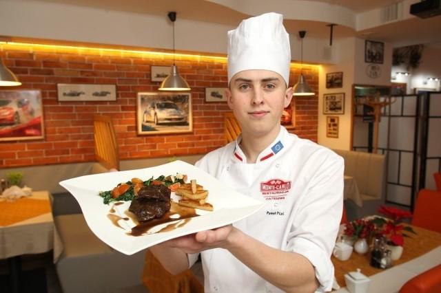 - Rumieńce wołowe to wyśmienite i bardzo aromatyczne danie. Już niedługo zagości w karcie naszej restauracji - mówi Paweł Ptaś, szef kuchni restauracji Monte Carlo w Kielcach.