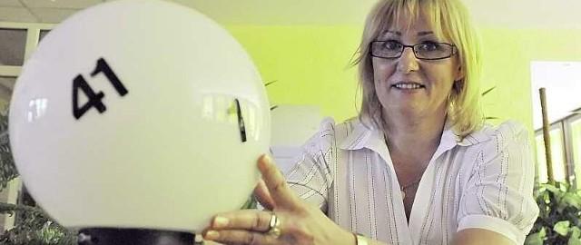 Małgorzata Ławrynowicz, od dwóch lat główna księgowa zielonogórskiego oddziału Totalizatora Sportowego. Wolny czas lubi spędzać z książką i ukochanym psem rasy Akita Inu na spacerach