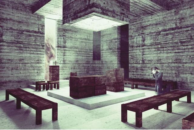 Irmina Niewczas w  projekcie przewidziała powstanie klasztoru, kaplicy i 12 pustelni. Zdobyła nagrodę we włoskim konkursie