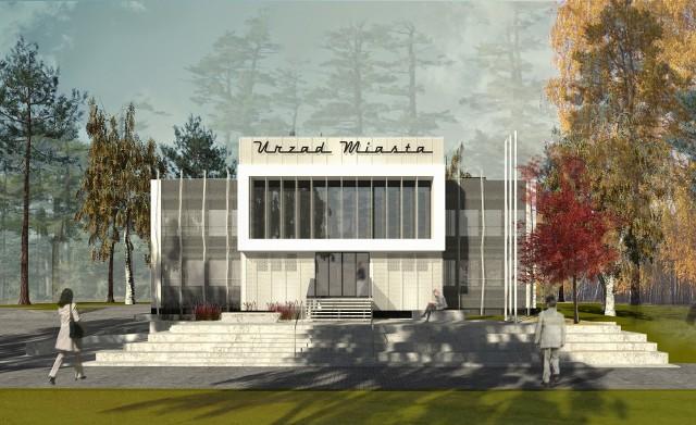 Tak ma wyglądać po modernizacji budynek Urzędu Miasta w Wojkowicach. Są też dwa widoki współczesne Zobacz kolejne zdjęcia/plansze. Przesuwaj zdjęcia w prawo - naciśnij strzałkę lub przycisk NASTĘPNE