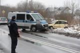 Policyjny pościg w Szczecinie. Dachowanie i zablokowana główna droga prowadząca do Polic - 19.01.2021