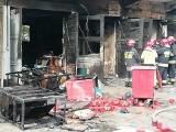 Białystok. Pożar magazynu przy Uniwersyteckim Szpitalu Klinicznym. Ogień poparzył pracownika (zdjęcia) [2 września 2019 r.]