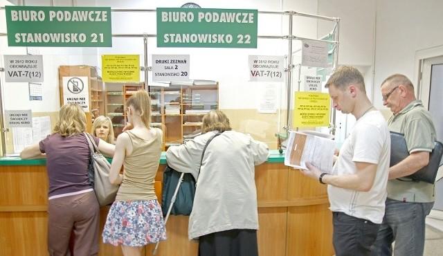 Urzędy skarbowe były wyjątkowo otwarte w sobotę FOT. MACIEJ KACZANOWSKI