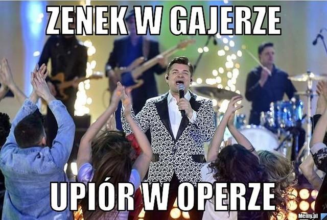 Zenek Martyniuk dał koncert walentynkowy w Teatrze Wielkim w Łodzi. Transmisje przeprowadziła TVP. Internauci skomentowali wyste memami.Zobacz kolejne zdjęcia. Przesuwaj zdjęcia w prawo - naciśnij strzałkę lub przycisk NASTĘPNE