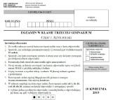 Egzamin gimnazjalny 2019. JĘZYK POLSKI ODPOWIEDZI I ARKUSZ CKE. Testy gimnazjalne (cz. humanistyczna) 10.04.2019
