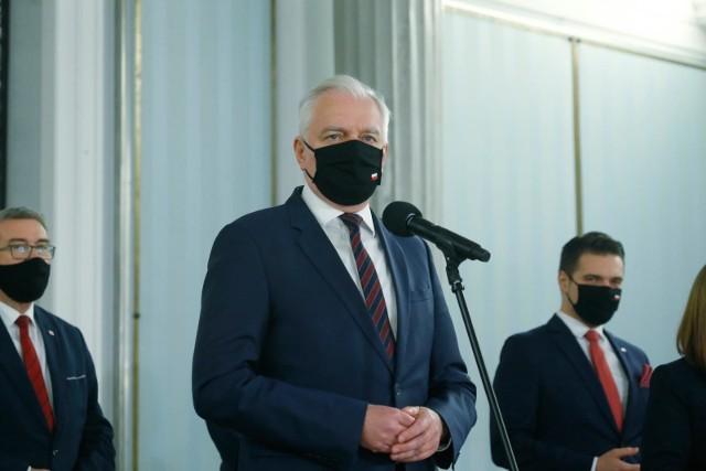 Wicepremier Jarosław Gowin trafił do warszawskiego szpitala w związku z zakażeniem koronawirusem