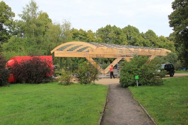 Miniamfiteatr na Pogodnie już z dachem