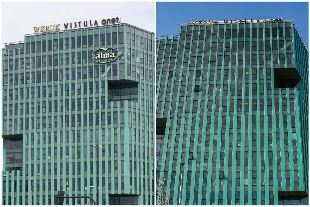 Zdjęć przed i po zdjęciu logotypu