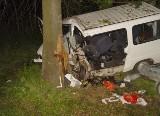 Piliki. Wypadek na DK 19. Fiat ducato w rowie, straż pożarna wydobywała ludzi (zdjęcia)
