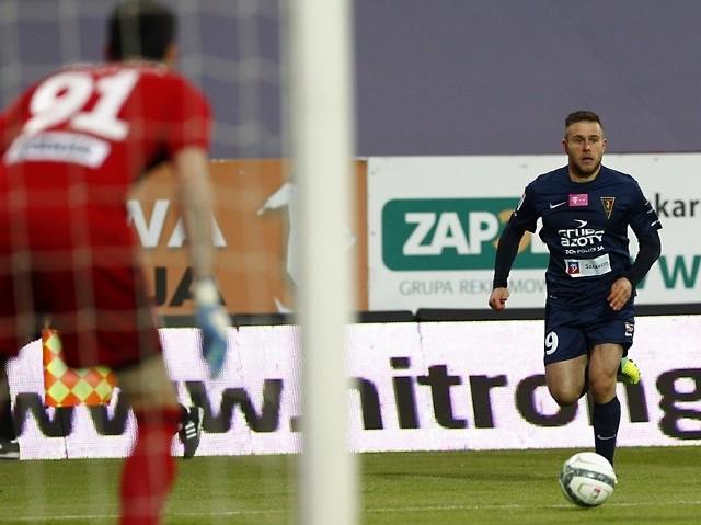 Patryk Małecki strzelił gola dającego awans Pogoni w Pucharze Polski.