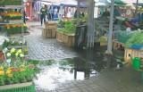 Handlowcy narzekają na zalany wodą rynek w Głogowie