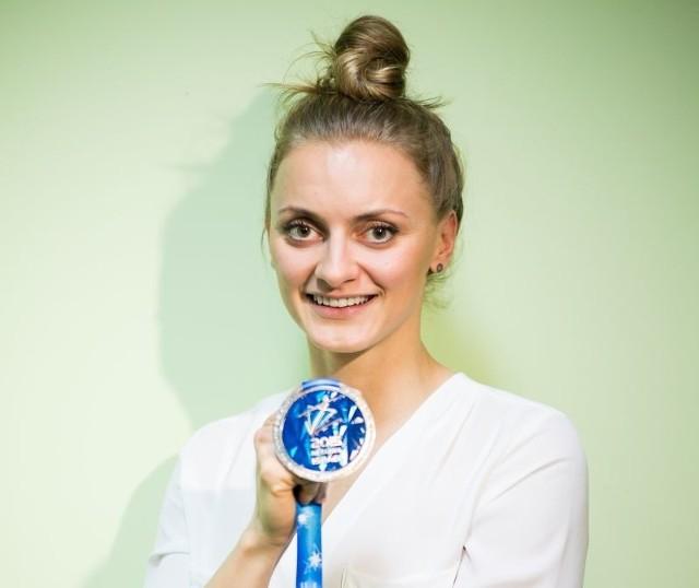 Aleksandra Urbańczyk-Olejarczykze srebrnym medalem mistrzostw Europy 2015.