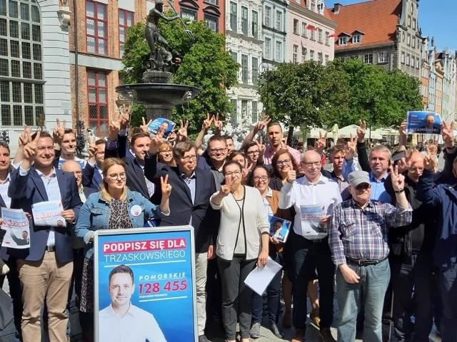 Konferencja prasowa trójmiejskich polityków Koalicji Obywatelskiej