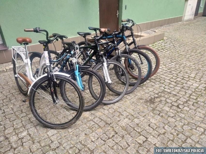 Sześć z odzyskanych rowerów