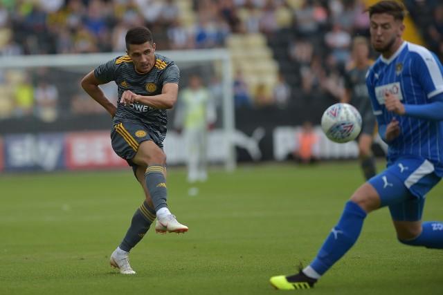 Bartosz Kapustka podczas meczu Leicester - Notts County